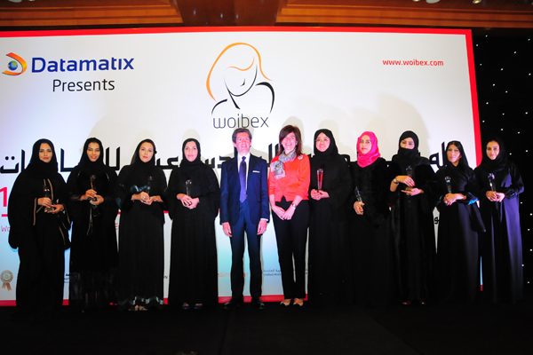 12th Middle East Women Leaders Awards Winners with Chief Guest, Mr. Paolo Lembo, United Nations Resident Coordinator in UAE, Qatar and Oman,UNDP and Ms. Elif �omoğlu �lgen, Consul-General, Turkish Consulate in Dubai/UAE