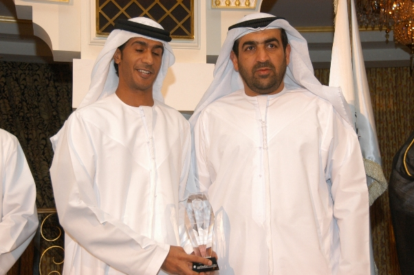 Department of Economic Development ,Abu Dhabi., Abdul Rahman Al Khuder Receiving the award