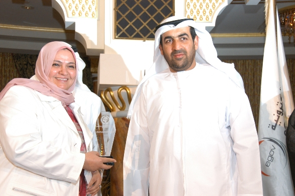 Kuwait AWQAF Public Foundation Hanan Al Ashimiri Receiving the award