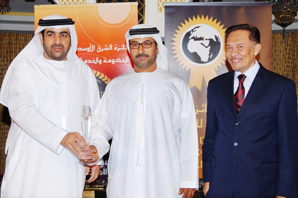 E-service Excellence Award Winner - Dubai Police Received by Ahmed Hamdan Bin Dalmouk Director General, Dept of eServices,Dubai Police