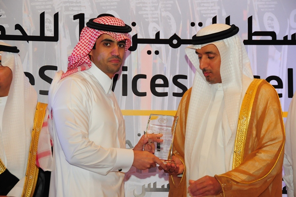 e-Initiative 2013 Excellence Award, Ministry of Foreign Affairs, Kingdom of Saudi Arabia. Award received by ICT Manager, Ministry of Foreign Affairs. Award presented by H.E Dr Ahmed Saeed Bin Hazim,  Director General of Dubai Courts