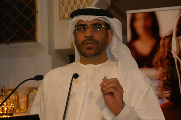 Mr. Nasser Bin Aboud- Etisalat giving speach at award function