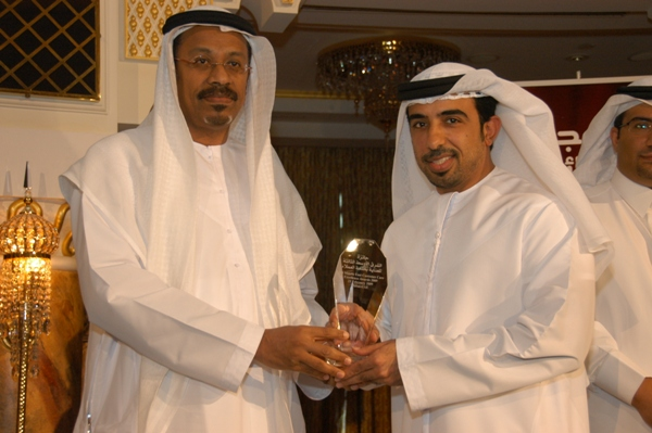 H.E. Mr.  Mohammed Omar Abdullah  awarded   Lieutenant Khaleed Bin Madina - Department of   Naturalization &   Residency Dubai- UAE