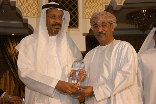 H.E. Mr.  Mohammed Omar Abdullah awarded  Mr. Muhammad Ali Said counselor from Ministry of   Tourism- Oman