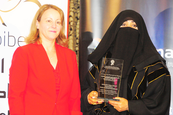 Mrs. Jawhara Al Mady,President of the Women Committee, Chamber of Commerce and Industry,Tabook, KSA - Woman Leader in Business and Economic Development Excellence Award