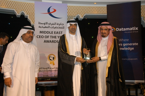 Corporate Management CEO of the Year - Dr. Abdullah bin Abdul Rahman Al-Othman, President, King Saud University, KSA. Awarded by, His Excellency Dr. Hanif Hassan, UAE Minister of Education