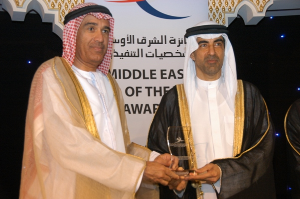 Government CEO of the Year - Engr. Hussain Nasser Lootah, Director General of Dubai Municipality, UAE Awarded by, His Excellency Dr. Hanif Hassan, UAE Minister of Education