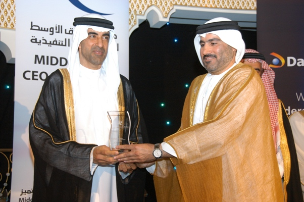 Young CEO of the Year - Mr. Salah Tahlak, Director-Corporate Communications, Dubai Duty Free, UAE Awarded by, His Excellency Dr. Hanif Hassan, UAE Minister of Education