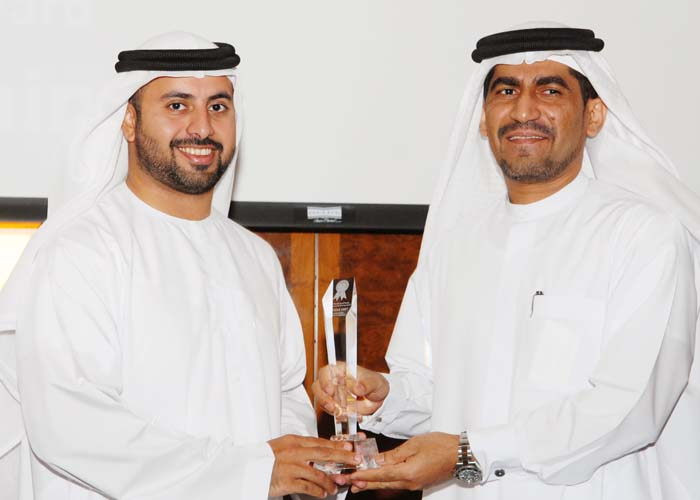 Sheikh Zayed Housing Programme awarded the Property Development Customer Care Excellence Award, award received by Eng. Abdullah Khamis Al Khadim the Executive Director from Sheikh Maktoum Bin Hasher Al Maktoum, CEO, Al Fajer Group