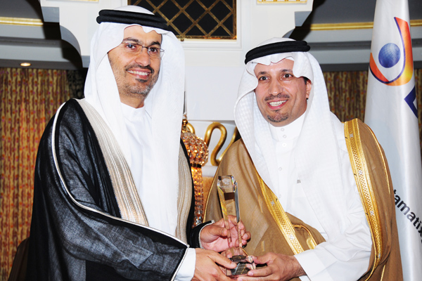 Resource Development CEO of the Year , Dr. Ali Bin Nasser Al-Ghafis, Governor of Technical and Vocational Training Corporation.