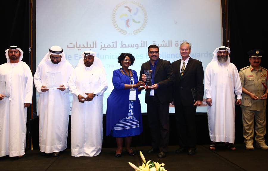 Arab Farms Company Awarded the 'Food Sector Excellence Award': Dr.Suhail Ahmed, Executive Chairman of the company receiving the Award from Mr. Brad Woodside, Mayor of Fredericton, Canada and Mrs. Sarah Matawana Mlamleli, Member Executive Council, Department of Corporative Governance and Traditional Affairs, Free State Provincial Government of South Africa