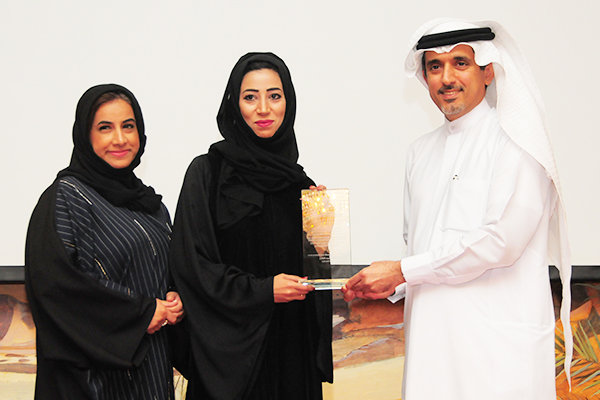 Ajman Free zone Awarded the 'Free zone Authorities Customer Care Excellence Award': Ms. Hanan Al Buraiki, Director of Strategy and Ms. Rafia Al Suwaidi, Director of the Information Office receiving the Award from H.E. Dr. Ahmad Bin Hezeem, BSA Ahmad Bin Hezeem and  Associates LLP