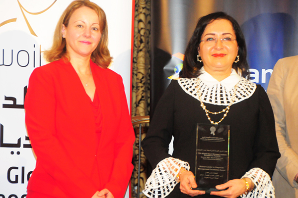 Ms. Huda M. Al-Ghoson, Executive Director of Human Resources, Saudi Aramco, KSA - Woman Leader in Corporate Management Excellence Award
