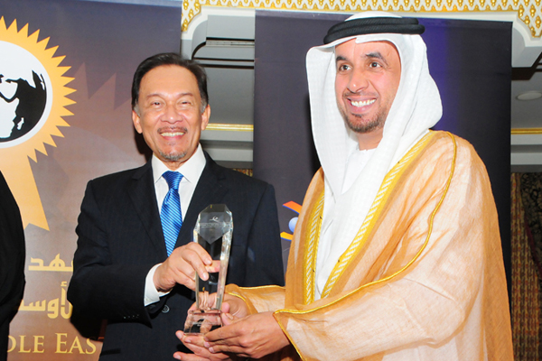 Ahmed Humaid Al Mazrouai, Chairman RCA, awarded Community Service CEO Excellence Award, presented by chief guest Hon. Dato Seri Anwar Ibrahim