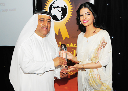 H.H Princess Ameerah Al Taweel with Ali Al Kamali, Managing Director, Middle East Excellence Awards Institute.