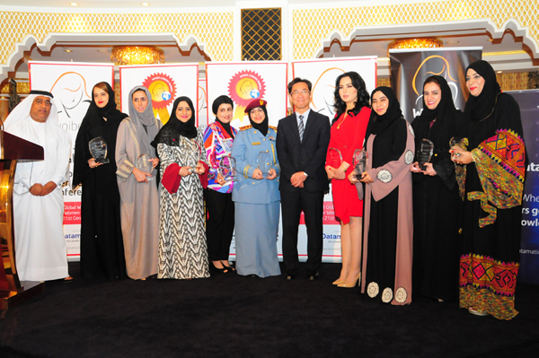 15th Middle East Women Leaders Awards Winners with Hon. Japanese Consul General Hisashi Michigami